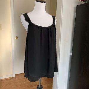 LOFT Black Chiffon Blousy Tank Top, Size S